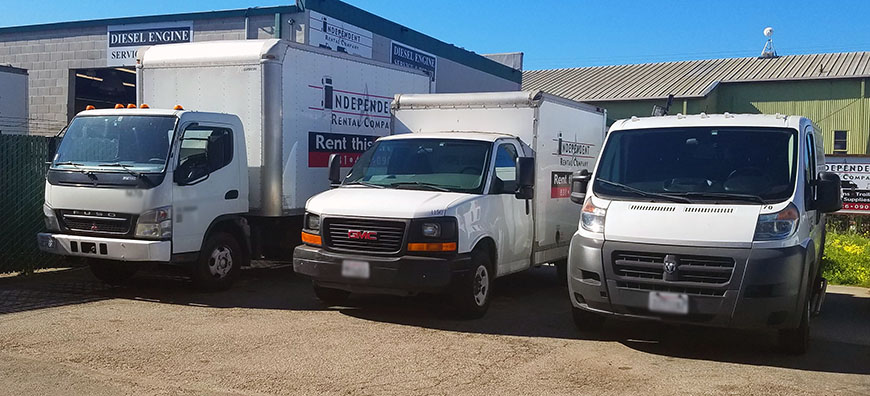 Size Comparison Cargo Van, Baby Box and Box Truck