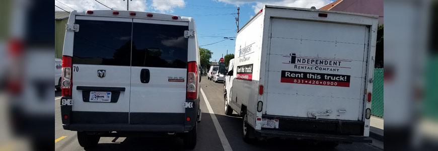 Size Comparison Cargo Van & Baby Box